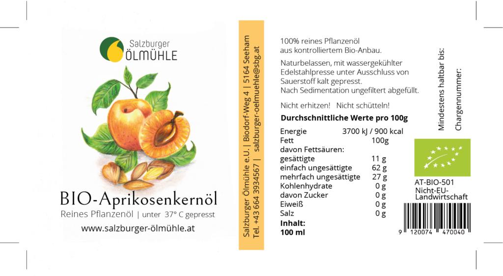 Etikett für Ölflaschen